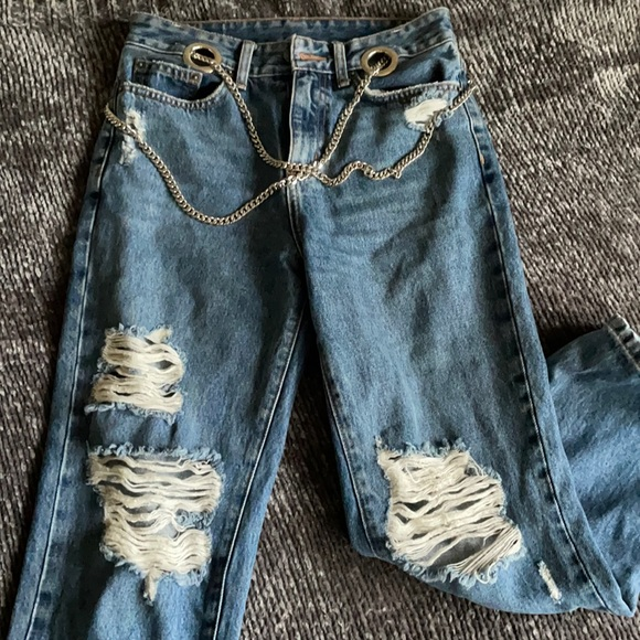 LF chain mom jeans